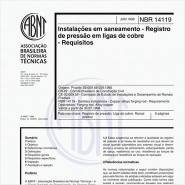 NBR14119 de 06/1998