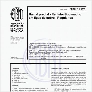 NBR14121 de 06/1998