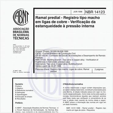 NBR14123 de 06/1998