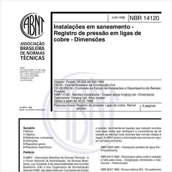 NBR14120 de 06/1998