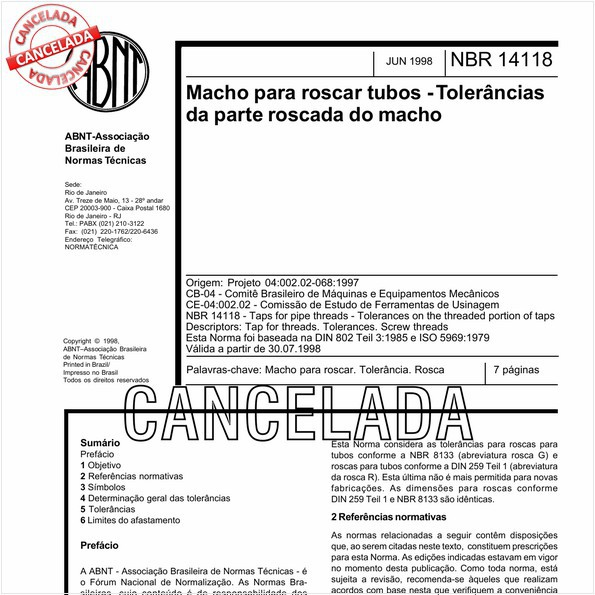 NBR14118 de 05/2011