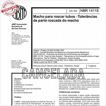 NBR14118 de 06/1998