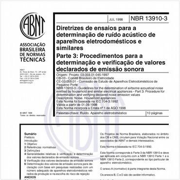 NBR13910-3 de 07/1998
