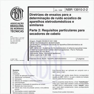 NBR13910-2-2 de 07/1998