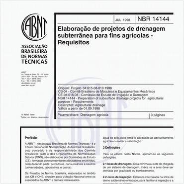 NBR14144 de 07/1998