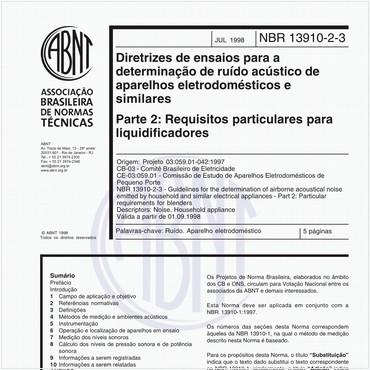 NBR13910-2-3 de 07/1998
