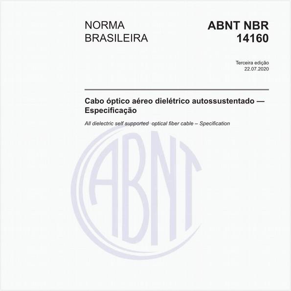 Cabo óptico aéreo dielétrico autossustentado — Especificação