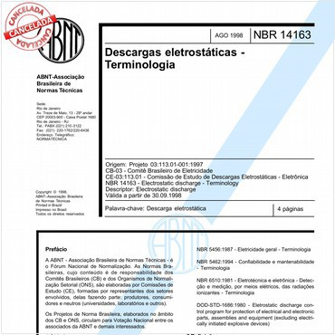 NBR14163 de 08/1998