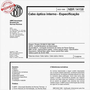 NBR14158 de 08/1998