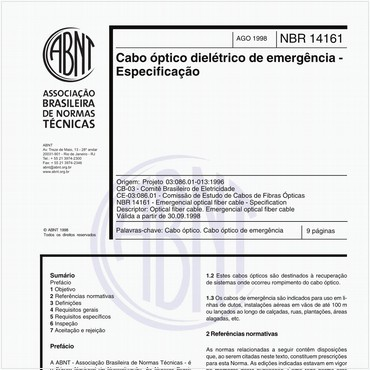 NBR14161 de 08/1998