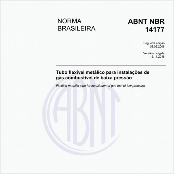 Tubo flexível metálico para instalações de gás combustível de baixa pressão