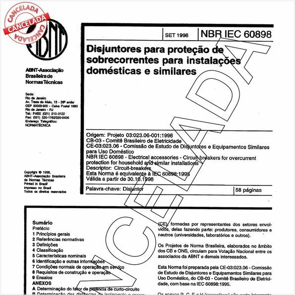 Disjuntores para proteção de sobrecorrentes para instalações domésticas e similares