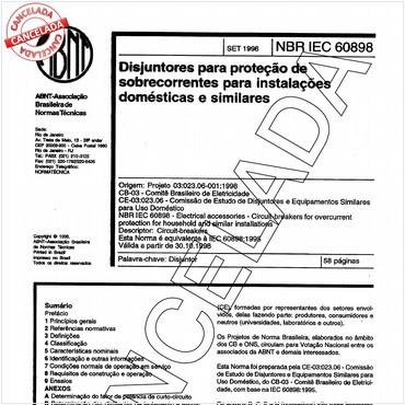 NBRIEC60898 de 09/1998