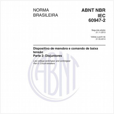 NBRIEC60947-2 de 11/2013