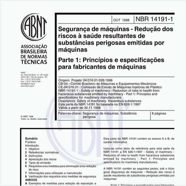 NBR14191-1 de 10/1998