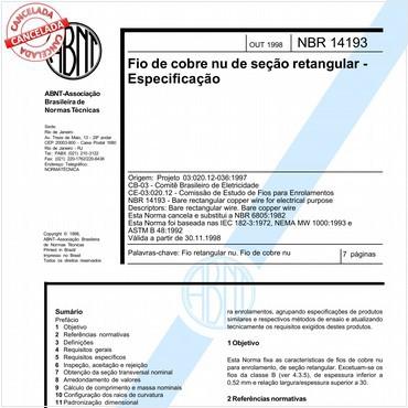 NBR14193 de 10/1998