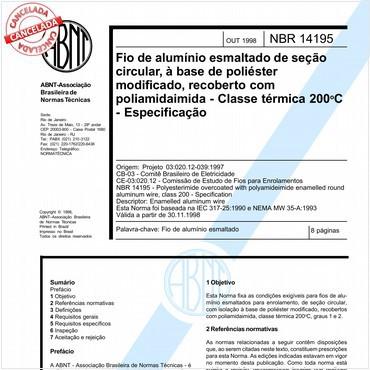 NBR14195 de 10/1998