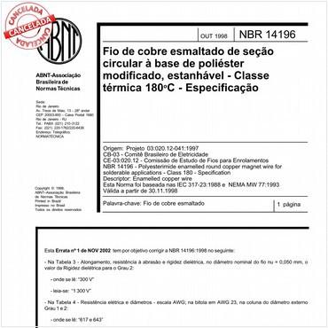 NBR14196 de 10/1998