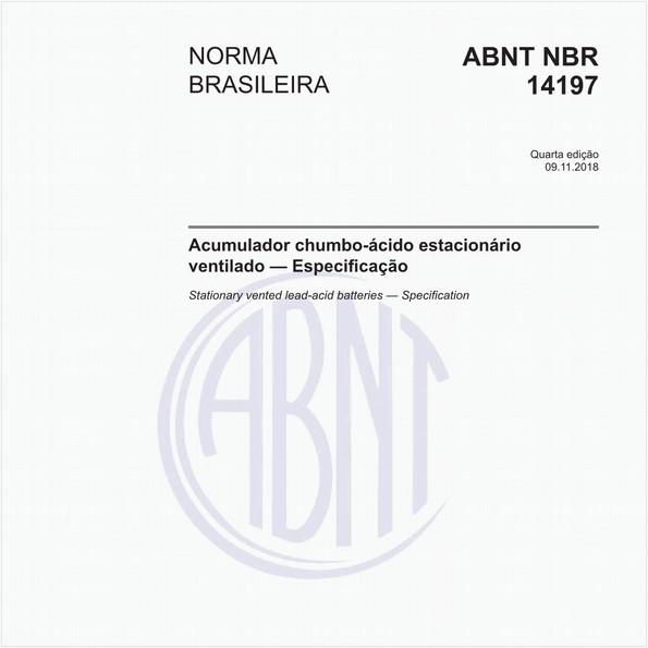 Acumulador chumbo-ácido estacionário ventilado — Especificação