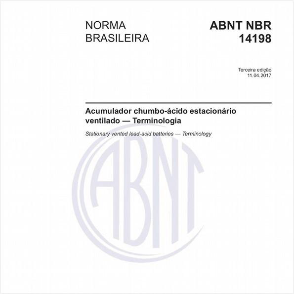 Acumulador chumbo-ácido estacionário ventilado - Terminologia