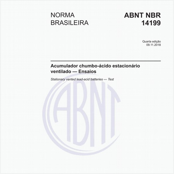 Acumulador chumbo-ácido estacionário ventilado — Ensaios