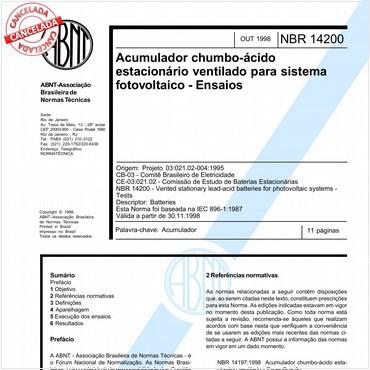 NBR14200 de 10/1998
