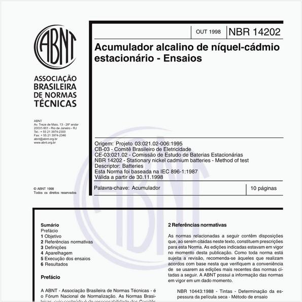 NBR14202 de 10/1998