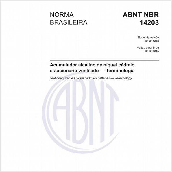 Acumulador alcalino de níquel cádmio estacionário ventilado - Terminologia