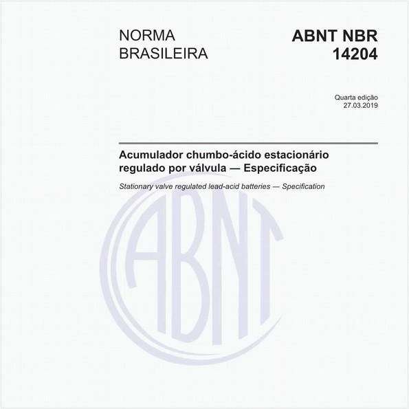 Acumulador chumbo-ácido estacionário regulado por válvula - Especificação