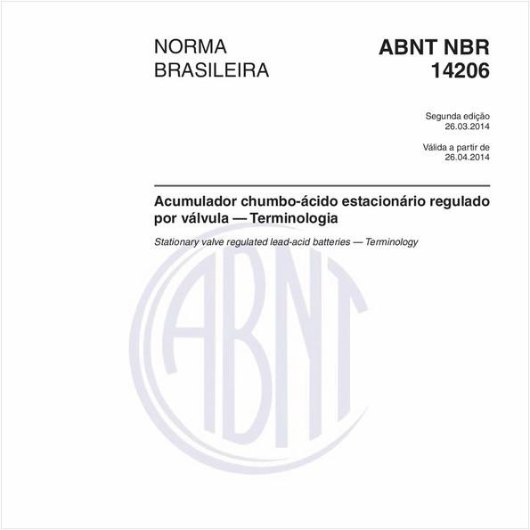 Acumulador chumbo-ácido estacionário regulado por válvula — Terminologia