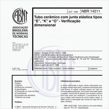 NBR14211 de 10/1998