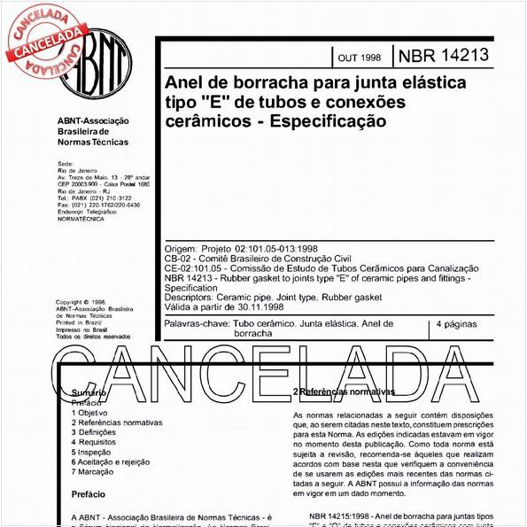 NBR14213 de 12/2005