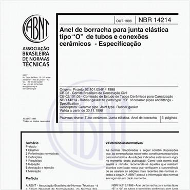NBR14214 de 10/1998