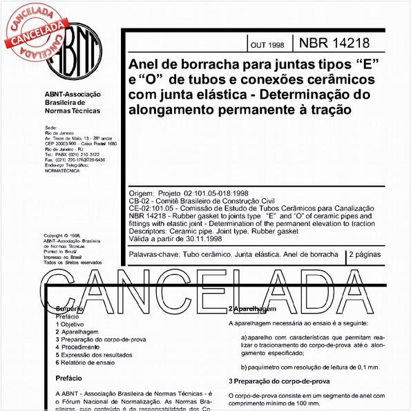 NBR14218 de 12/2005