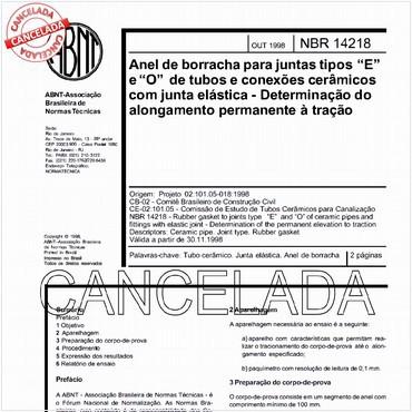 NBR14218 de 10/1998