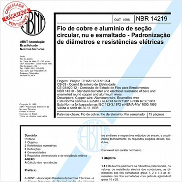 NBR14219 de 10/1998