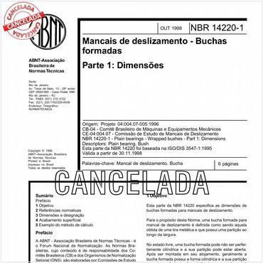 NBR14220-1 de 10/1998
