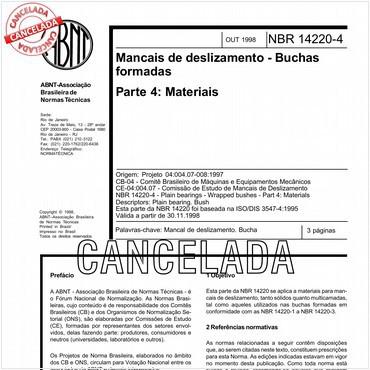 NBR14220-4 de 10/1998