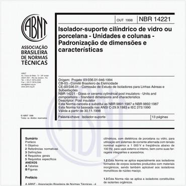 NBR14221 de 10/1998