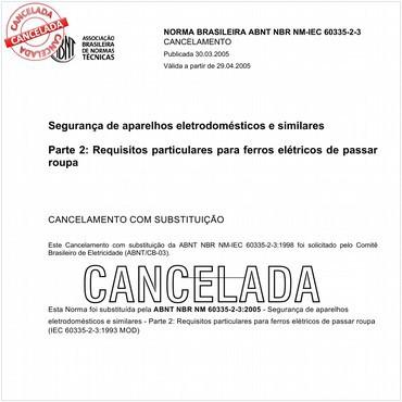 NBRNM-IEC60335-2-3 de 11/1998