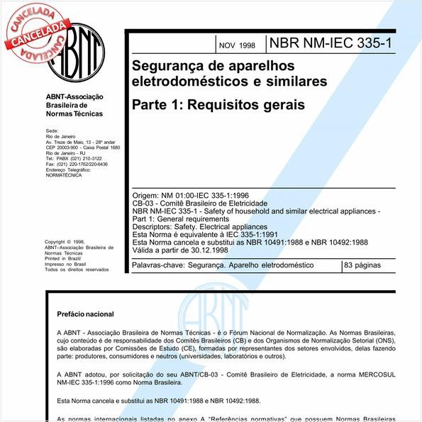 NBRNM-IEC60335-1 de 09/2006