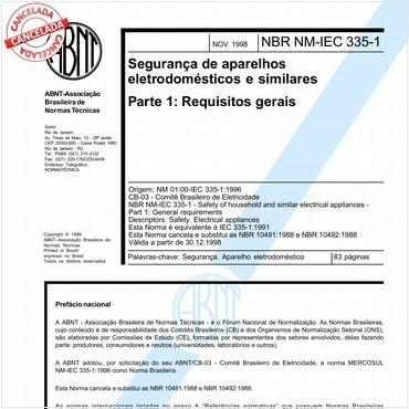 NBRNM-IEC60335-1 de 11/1998