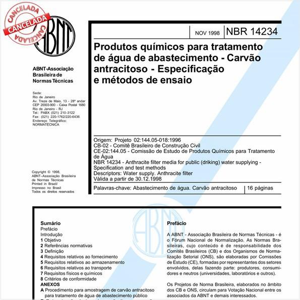NBR14234 de 08/2012