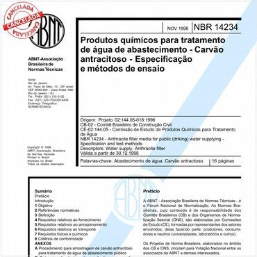 NBR14234 de 11/1998