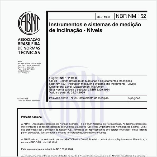 Instrumentos e sistemas de medição de inclinação - Níveis