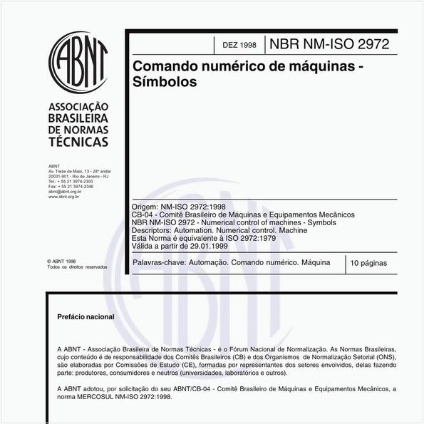Comando numérico de máquinas - Símbolos
