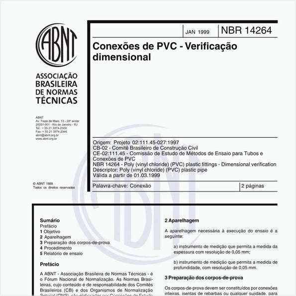 NBR14264 de 01/1999