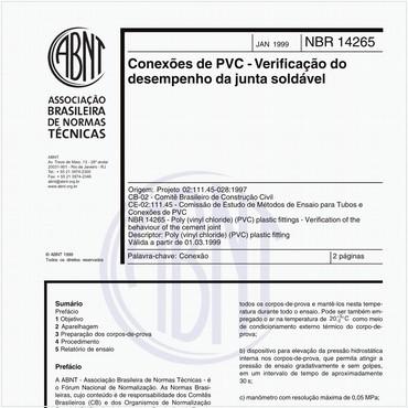 NBR14265 de 01/1999
