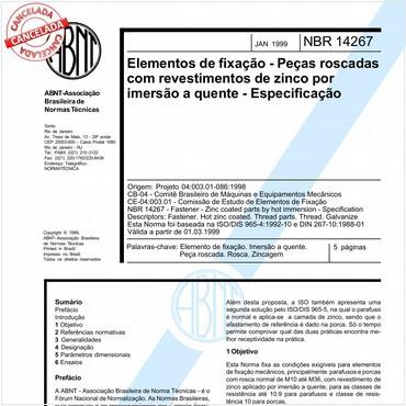 NBR14267 de 01/1999