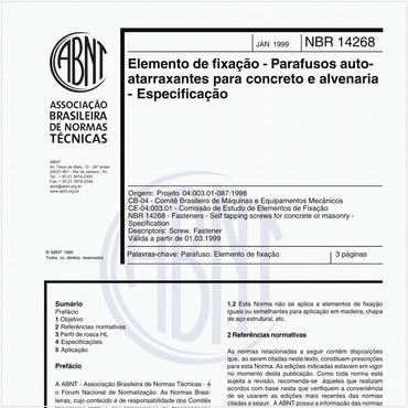 NBR14268 de 01/1999